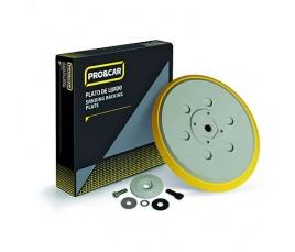 Plato Sd Para Lijadora Electrónica Polietileno Gris 150mm Velcro