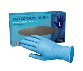 Guantes De Nitrilo Azul Sin Polvo Modelo Touch